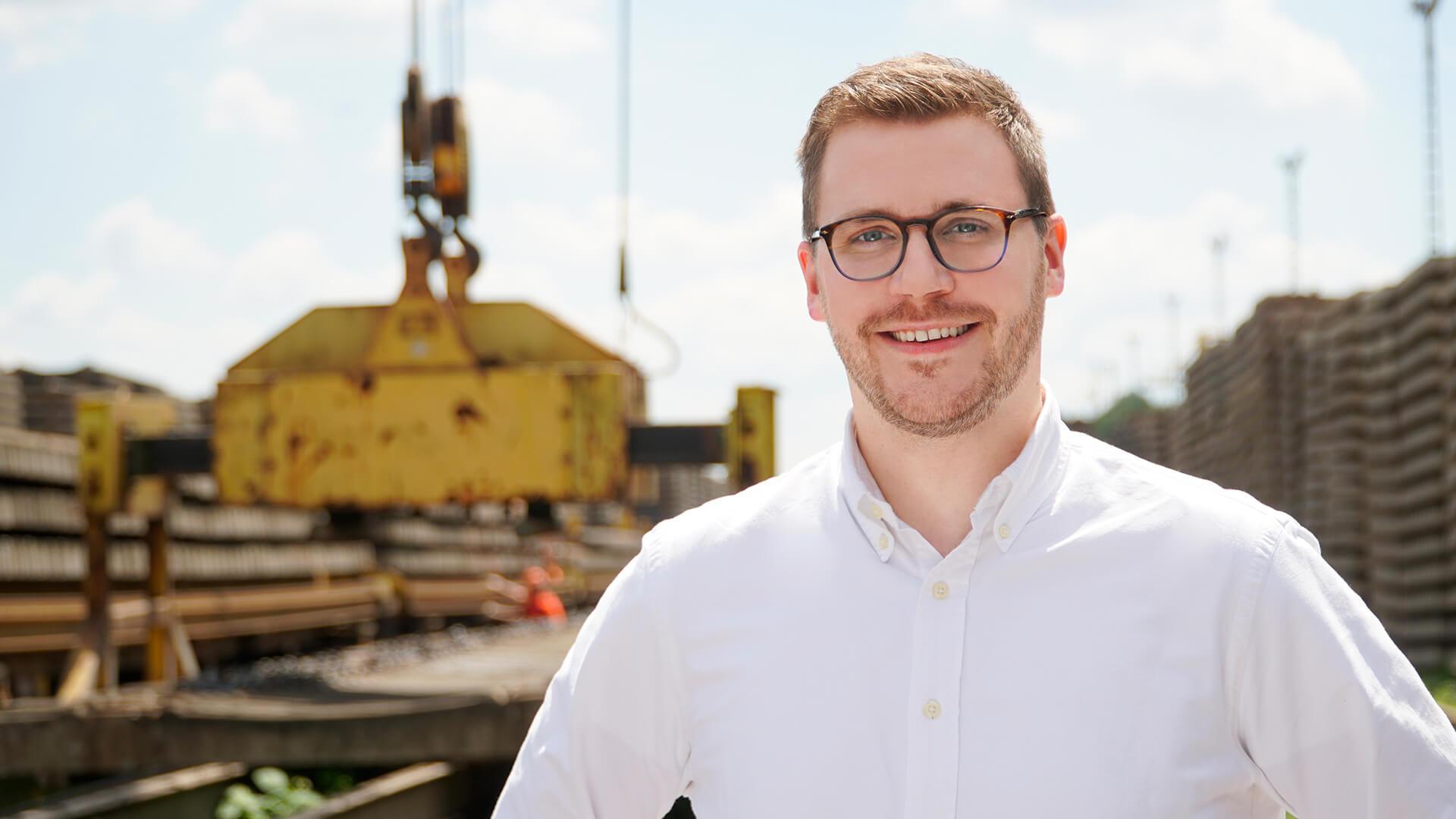 Marius Schultz von ZICO Gleisbauprodukte