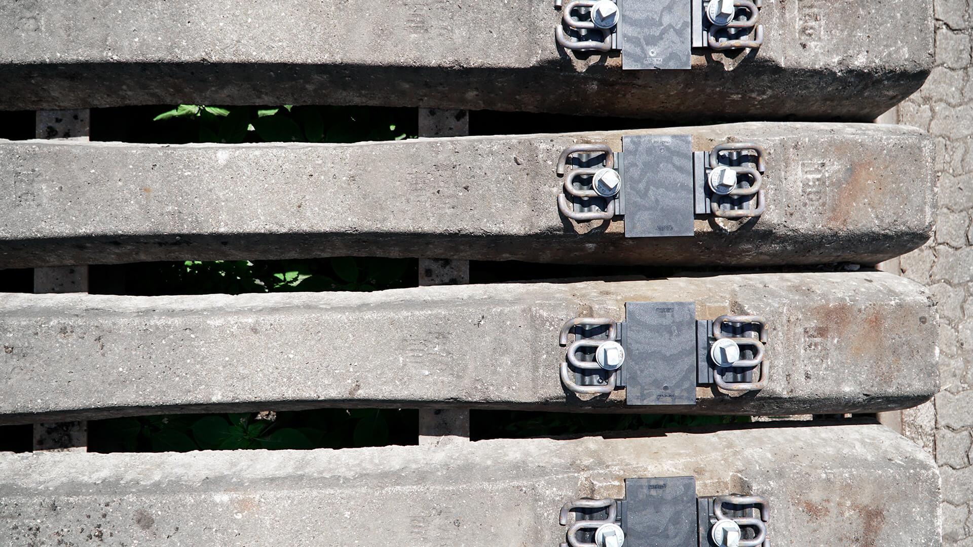 Material für den Gleisbau