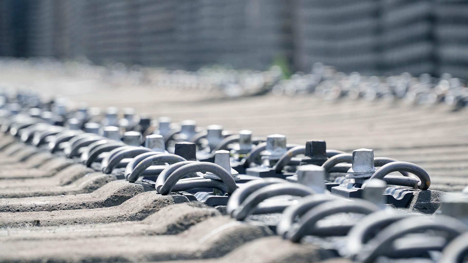 Schienenbefestigung für den Gleisbau
